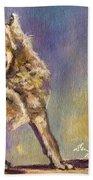 Howling Wolf Beach Towel