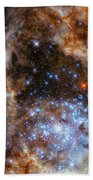 Hubble Finds Massive Stars Beach Towel