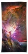 Hubble's Sharpest View Of The Orion Nebula Beach Towel by Adam Romanowicz