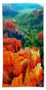 Hues Of The Hoodoos In Bryce Canyon National Park Beach Towel
