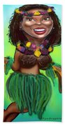 Hula Dancer Beach Towel