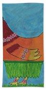 Hula Hen Beach Towel