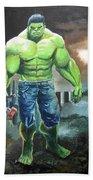 Hulk. Original Acrylic Beach Towel