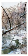 Humber River Winter 3 Beach Towel