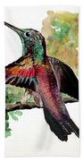 Hummingbird 5 Beach Towel