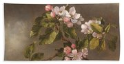 Hummingbird And Apple Blossoms Beach Towel