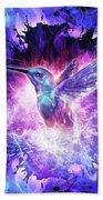 Hummingbird Love Beach Towel