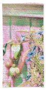 Hummingbird In The Garden Beach Towel