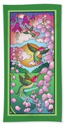 Hummingbird Sunrise Beach Towel