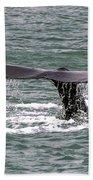 Humpback Whale Flute Alaska Beach Towel