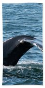 Humpback Whale Of A Tail Beach Towel