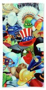 Hundreds Of Hats Beach Towel by Hanne Lore Koehler