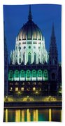 Hungarian Parliament Building Beach Towel