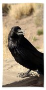 Hungry Crow Beach Towel