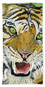 Hungry Tiger Beach Towel