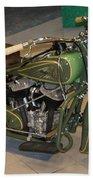 Hunter Green Indian Motorcycle...   # Beach Towel