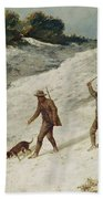 Hunters In The Snow Or The Poachers Beach Towel