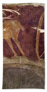 Hunting, 12th Century Beach Towel