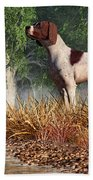Hunting Dog By A River Beach Towel