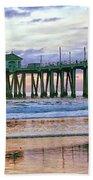 Huntington Beach Pier Panorama Colo Beach Towel