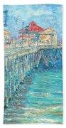 Huntington Beach Pier Beach Towel