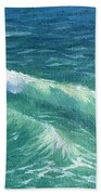 Huntington Small Waves  Beach Towel