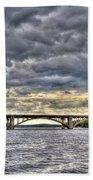Hurricane Irene On Tillery Beach Towel
