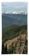Hurricane Ridge View Beach Towel