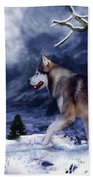 Husky - Mountain Spirit Beach Towel