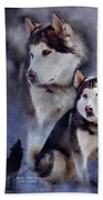 Husky - Night Spirit Beach Towel