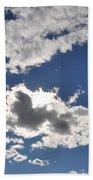 Huson River Clouds 1 Beach Towel