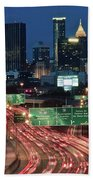 Hustle And Bustle Of Atlanta Roadways Beach Towel