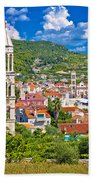 Hvar Architecture And Nature Vertical View Beach Towel