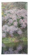 Hydrangeas On The Banks Of The River Lys Beach Towel