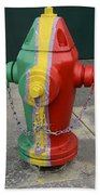 Hydrant With A Facelift Beach Towel