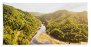 Hydropower Valley River Beach Towel