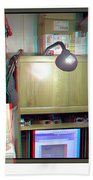 I C The Light - Use Red-cyan 3d Glasses Beach Towel