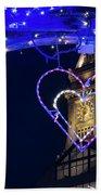 I Heart Boston Ma Christopher Columbus Park Trellis Lit Up For Valentine's Day Beach Towel