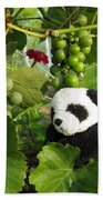 I Love Grapes Says The Panda Beach Towel