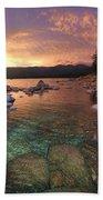 I Love Lake Tahoe Beach Towel