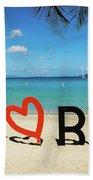 I Love The Bvi Beach Towel