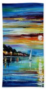 I Saw A Dream - Palette Knife Oil Painting On Canvas By Leonid Afremov Beach Towel