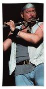 Ian Anderson Of Jethro Tull Beach Towel