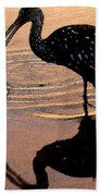 Ibis At Dusk Beach Towel