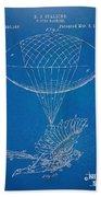 Icarus Airborn Patent Artwork Beach Towel