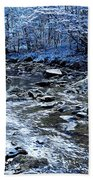 Ice Blue Forest Beach Towel