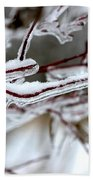 Ice Branches Beach Towel