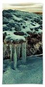 Ice Cave Of Stones Beach Towel