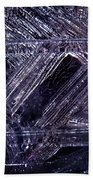 Ice-cold Gothic Night Beach Towel