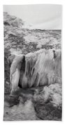 Ice Covered Rocks  Beach Towel